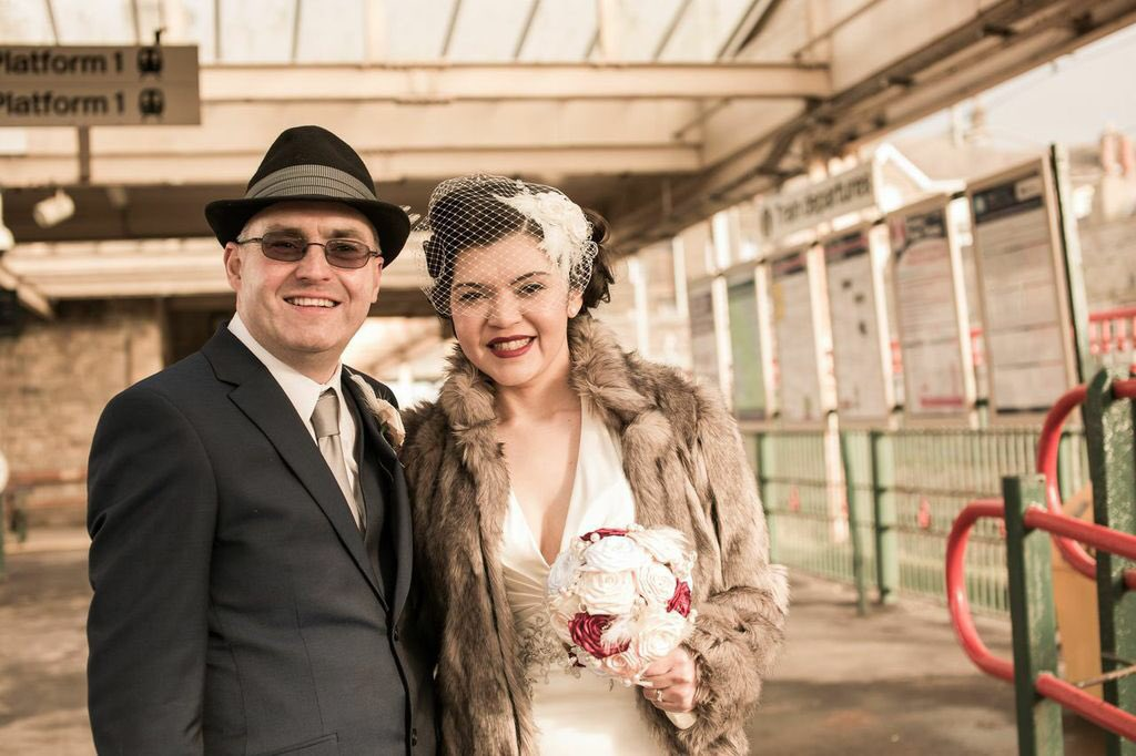 @TheBayOfficial @dannycmatthews our wedding photos In Carnforth Station https://t.co/YL7qFIExnD