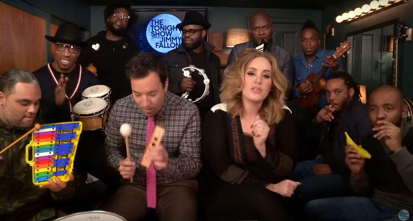 Adele, Jimmy Fallon e i The Roots