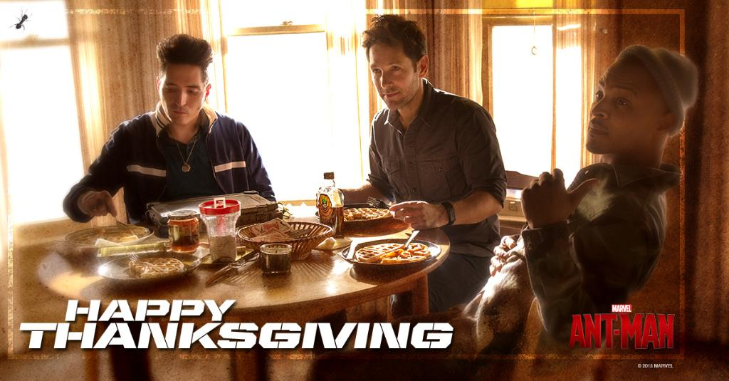 Have a fANTastic Thanksgiving, Marvelites! https://t.co/gyS38o3UOL