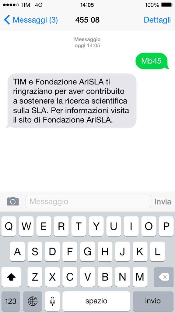Invito accettato @OfficialMonto !e nomino @ignazioabate20 @ClaMarchisio8 @ale_cerci_7  SMS AL 45508 https://t.co/4FnQksrrnB