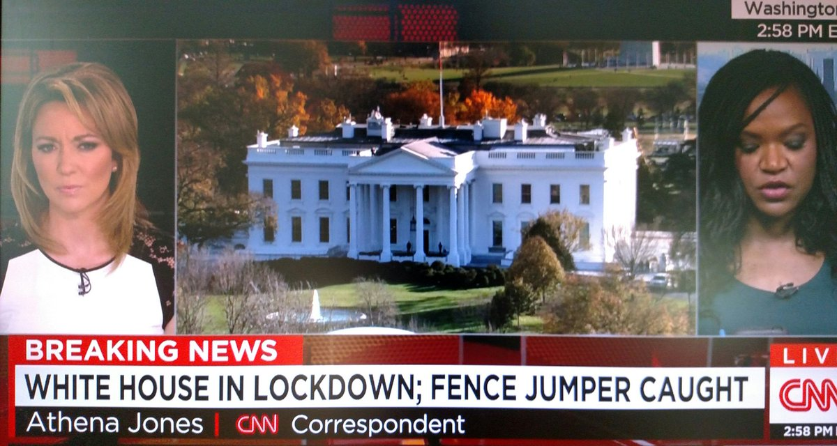 White House on lockdown – another fence jumper
