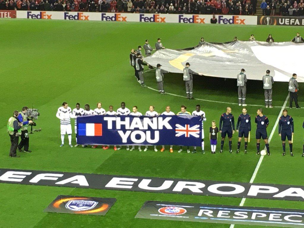 Le message de remerciements des Girondins au peuple anglais