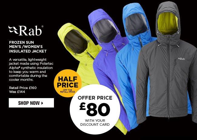 Go Outdoors On Twitter Blackfriday Rab Frozen Sun Jacket Retail Price 160 Discount Card Price 80 Https T Co Pjmkcrbdgn Https T Co U09czlcndq