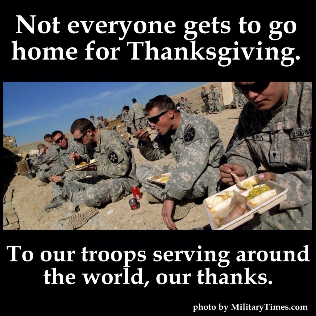 Happy Thanksgiving to Americas finest!!
