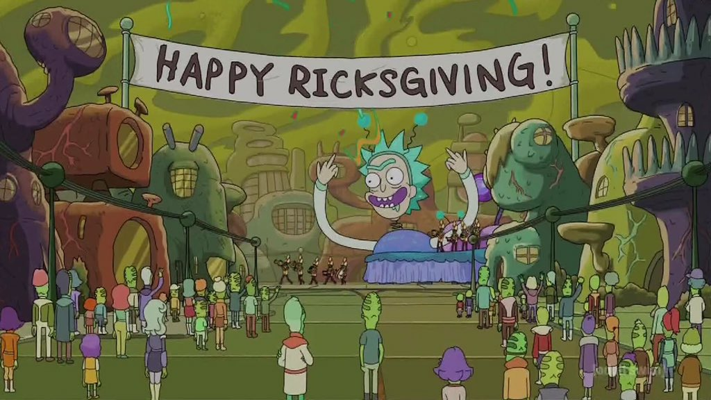 Wubalubadubdub! Let's get our squanch on, get Rickety-Rickety-Wrecked, and then be thankful for it! https://t.co/qMoNwvj9Ch