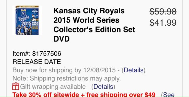 ROYALS TWEEPS!!!: https://t.co/Pmb2AQx9yw sale!!!! 6-Discs - All 5 games and behind the game footage!!! https://t.co/u4ugLmQbnA