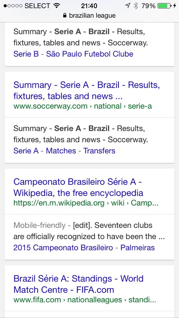 Soccerway Results Mobile