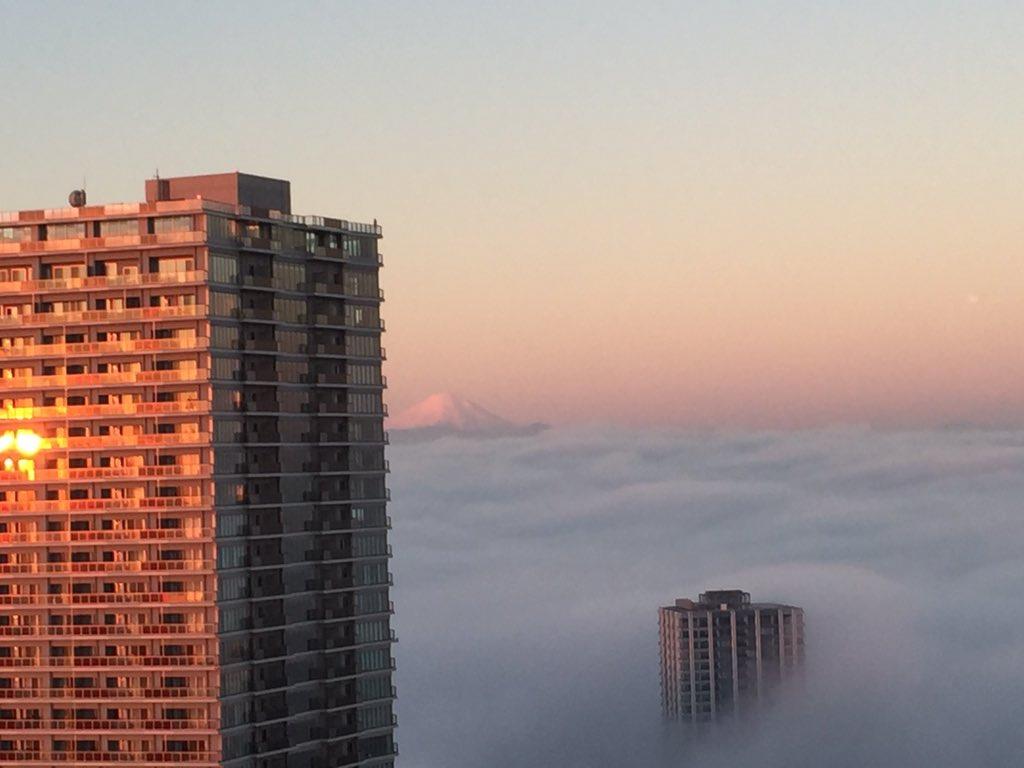 【幻想的】今朝の東京の景色ヤバすぎ【雲海】