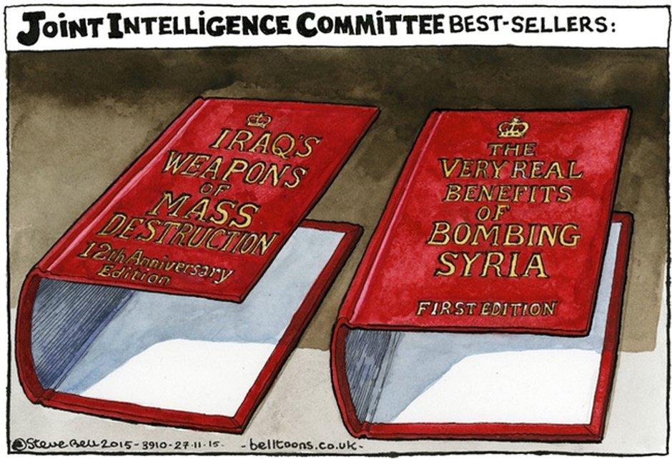 Steve Bell on UK involvement in Syrian airstrikes – cartoon https://t.co/svTjZQiX7c https://t.co/R336lSKjOP