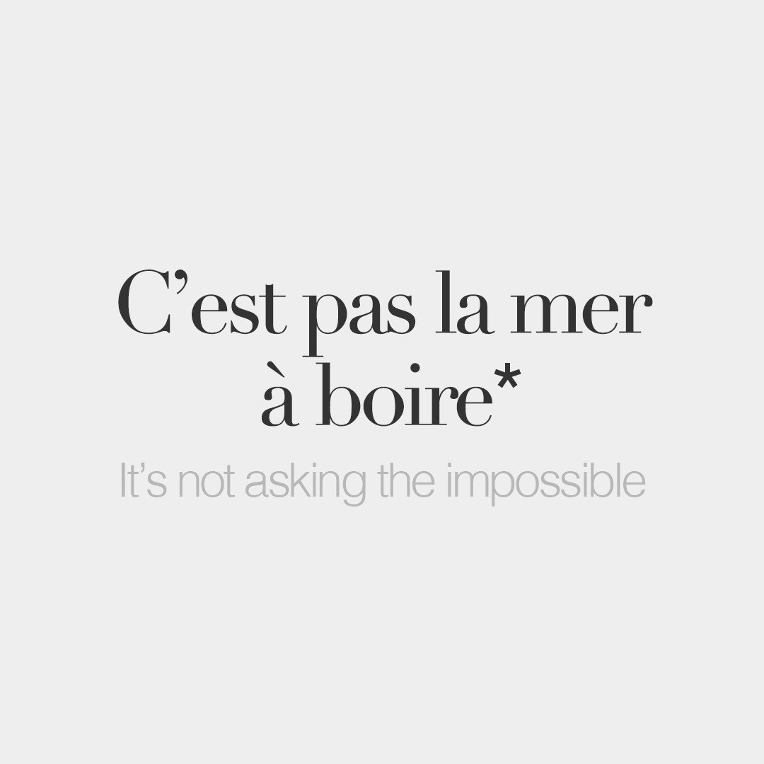 """French Words On Twitter: """"*Literal Meaning: It's Not To"""