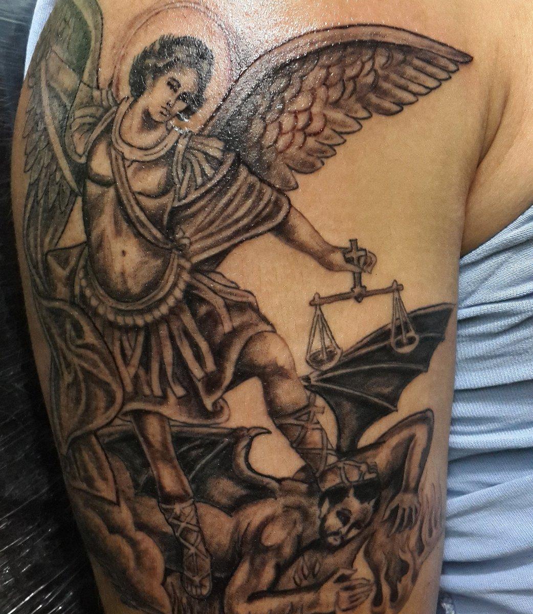 Edu Tatuaje On Twitter San Miguel Arcangeltauajes Pasion Amor Y
