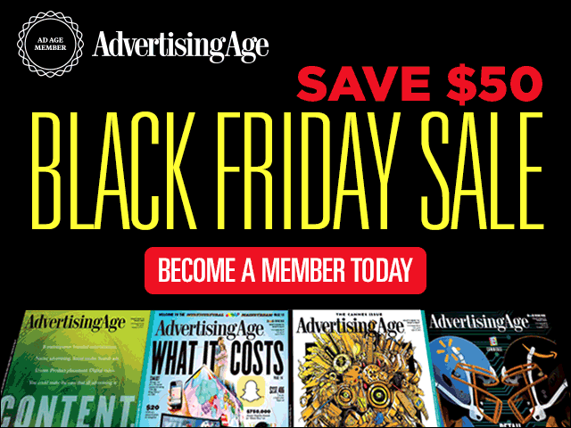 Ad Age Black Friday Sale: Become a Member Today for Only $59! https://t.co/YsAJIsmKZz https://t.co/PPZyvD06bo