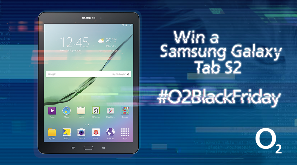 Want a Samsung Galaxy Tab S2? Win one this #O2BlackFriday, RT now to enter. Closes 1pm. https://t.co/cM4hOcjTog https://t.co/pEae9PVDxl