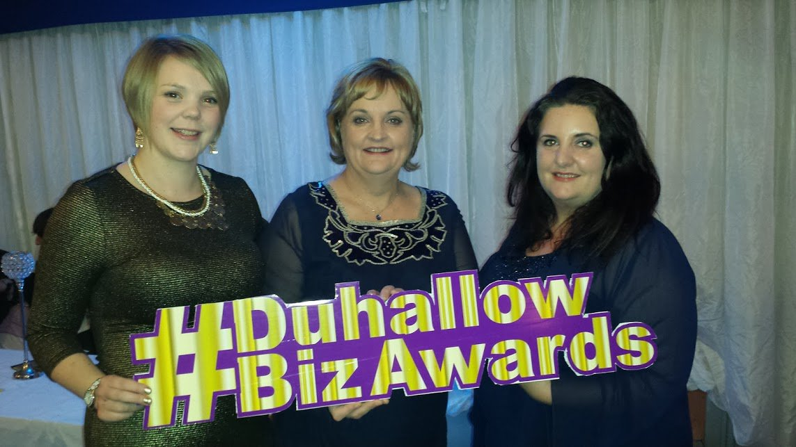 It was all happening at the #DuhallowBizAwards last night! Great pic of me with Esther & Fleur (sign @thebrandgeeks) https://t.co/ZKbGZGM4IB