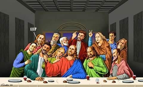 現代風にアレンジされた「最後の晩餐」