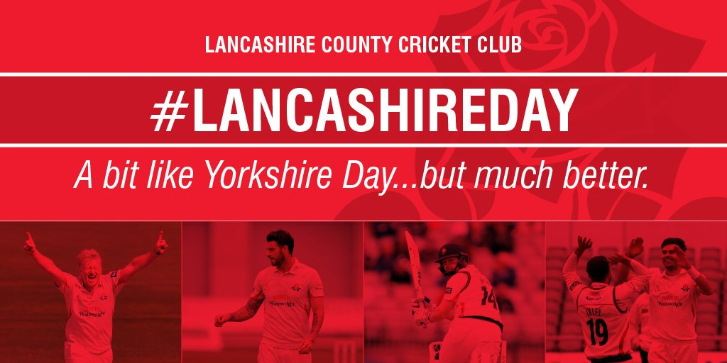 Happy #LancashireDay everyone! A day for all those who wear the Red Rose to celebrate! #RedRoseTogether https://t.co/m52e22uo8J