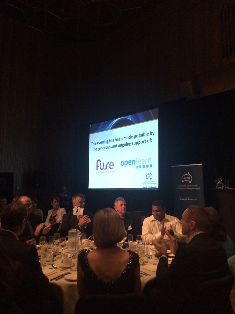 Great to see Fuse up in light at the @aitd1 awards dinner. @Pete27513650 @cadre_au #AITDawards https://t.co/wHRhkhQSHZ