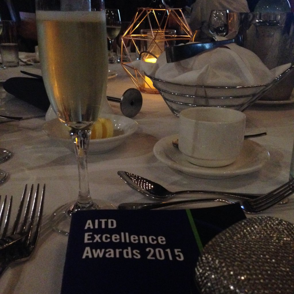 All glee and shine at the #AITDawards 🌟 Dream team! @Be_BetterPeople @Telstra @aitd1 @TP3aus https://t.co/zePZkkJtQw