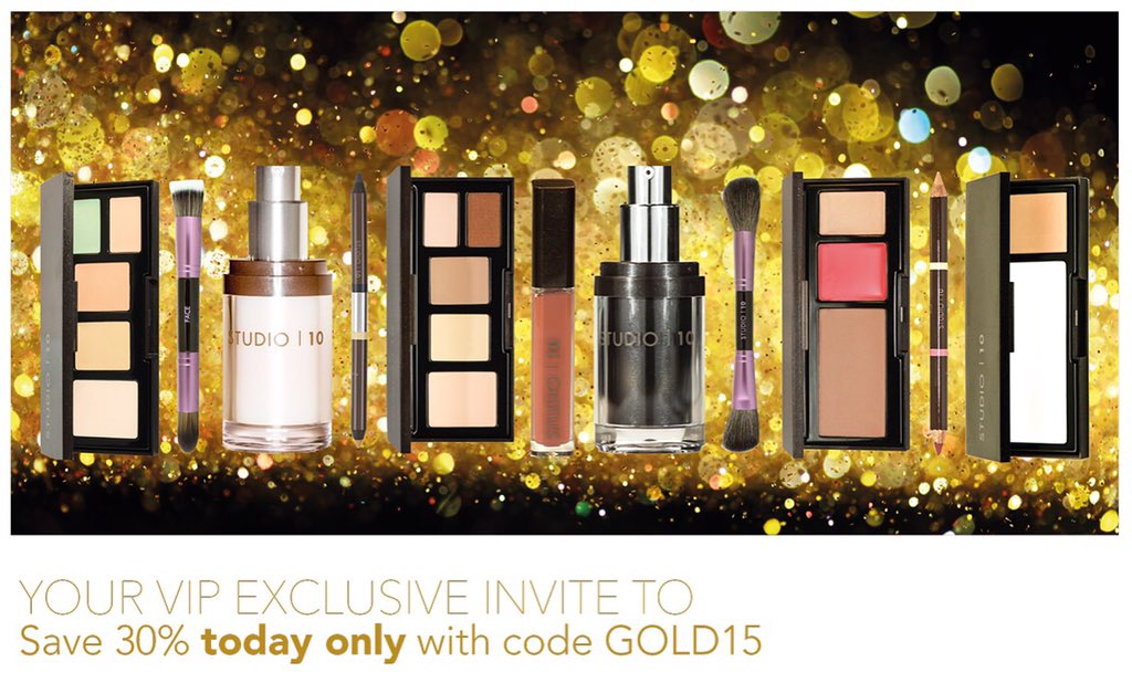 RT @Studio10Beauty: Why go black this Friday when you can go GOLD ... #BlackFriday https://t.co/MwH3zhSAOq