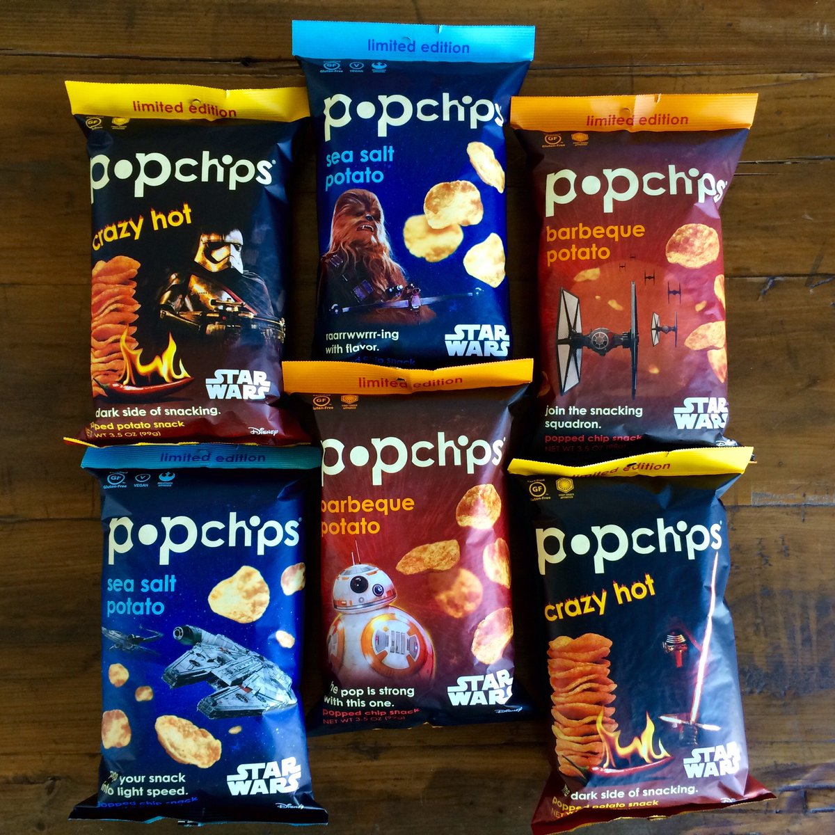 7 days til #TheForceAwakens. here's your chance to be snack ready.RT for a chance to win our LE #StarWars popchips! https://t.co/OyMCsZ7fUY