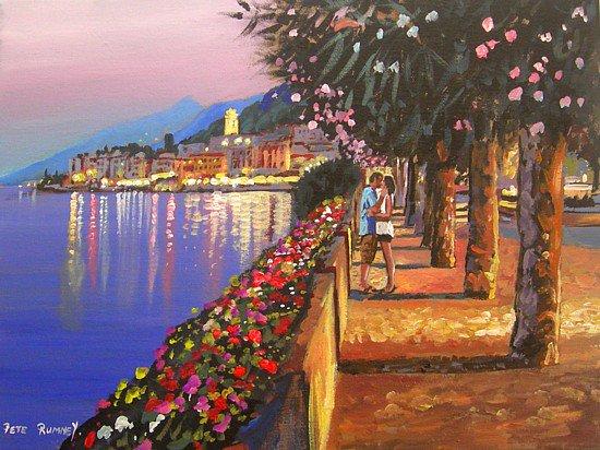 """PETE RUMNEY ART On Twitter: """"'An Evening In Italy"""
