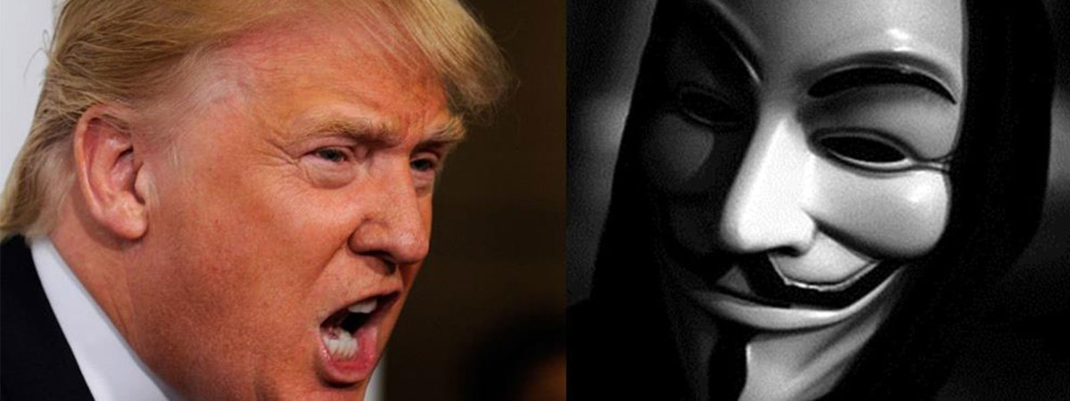Anonymous all'attacco di Donald Trump
