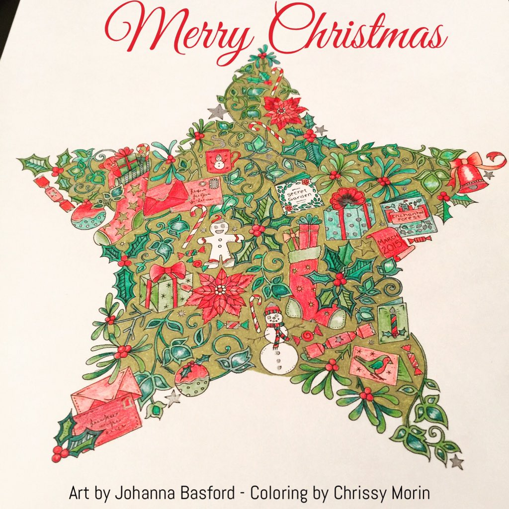 Coloring Book Addict On Twitter Johanna Basford Christmas Mini Donate Now Tco XUS2vBtVNK Johannabasford WJfayGNAEI