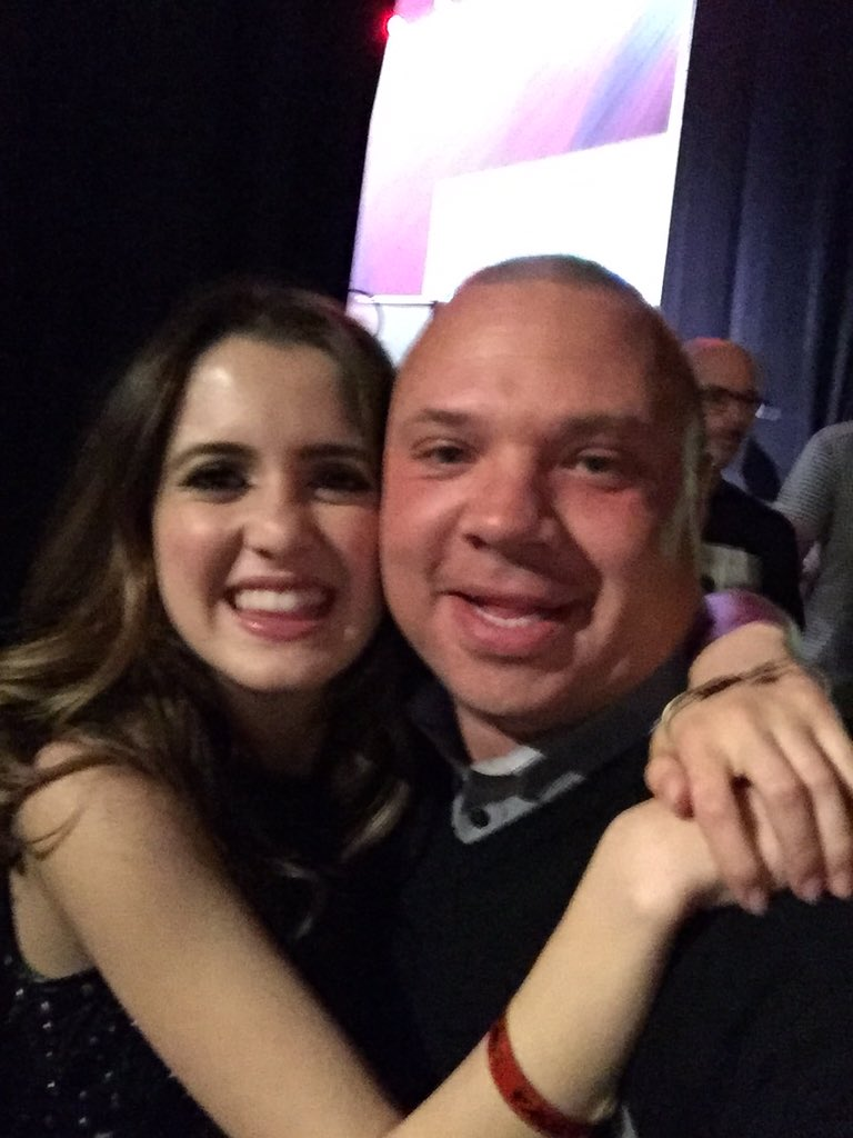 Just seriously met my kids iconic star! @Disney very own @lauramarano Holy cow! Wow! @TSforzaT of Austin & Ally!! https://t.co/8zeQXIaMpy