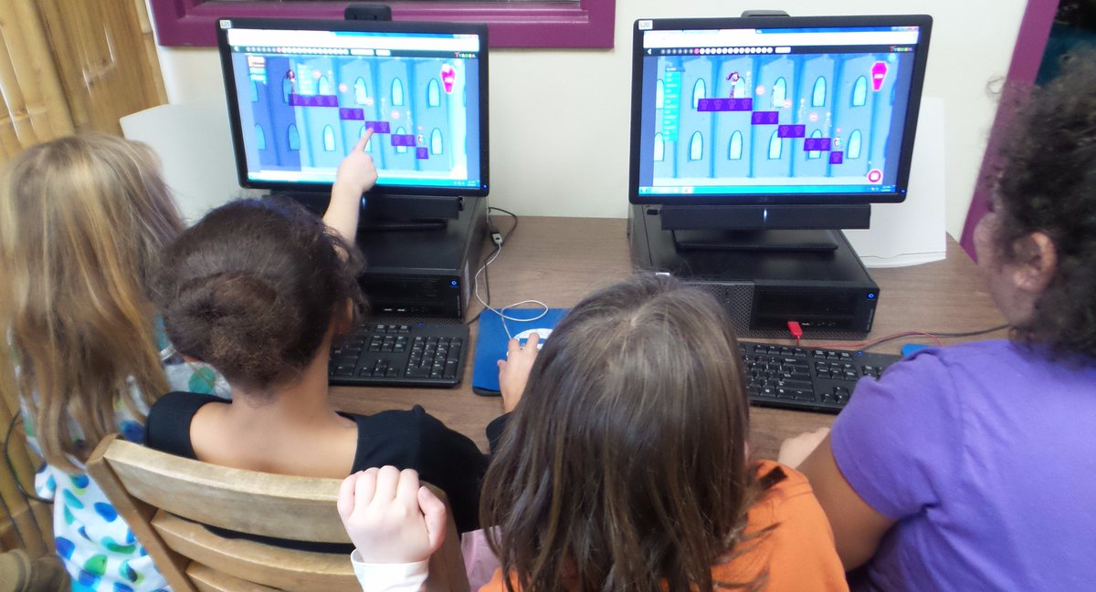 "RT @dsmacdonald: ""Monster High"" by @gotynker was a hit w these @OrchardVT 2nd graders during #HourOfCode. #VTed https://t.co/NRC2DWNpg0"
