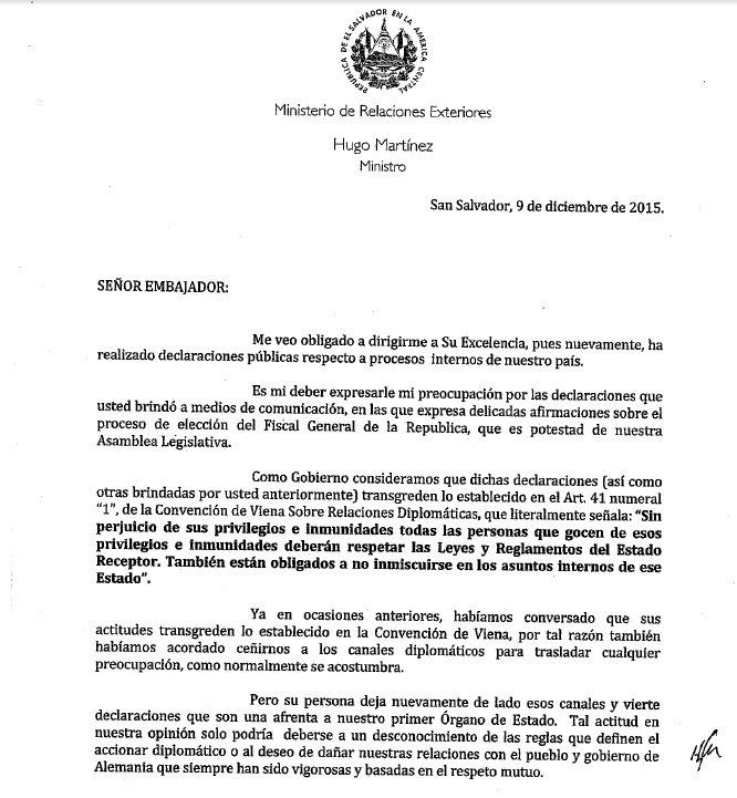 Noticiero Hechos On Twitter Comunicado Del Ministerio De Relaciones Exteriores