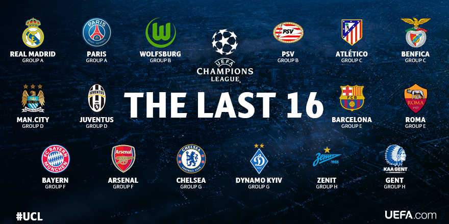 Lễ bốc thăm vòng 1/8 - Cúp C1 2015/2016