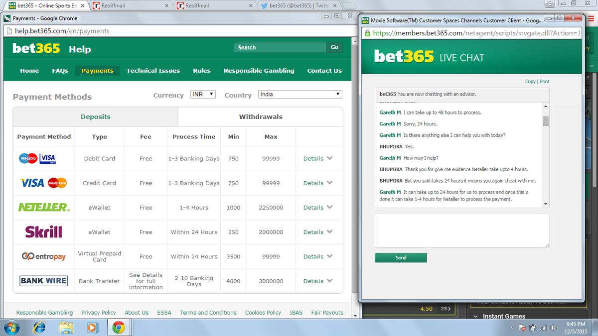 Bet365 Chat