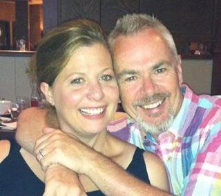 Nik Kershaw with his wife Sarah Kershaw