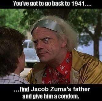 Oh for time travel... #BackToTheFuture #ZumaMustFall https://t.co/qHorMbJR8J