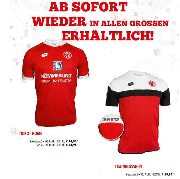 NEU Lotto 1 FSV Mainz 05 Trikot Home Kinder Größe S M L