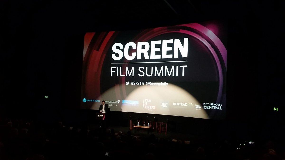 Screen Film Summit @Screendaily is underway! #SFS15 https://t.co/G4S2bzeaQF