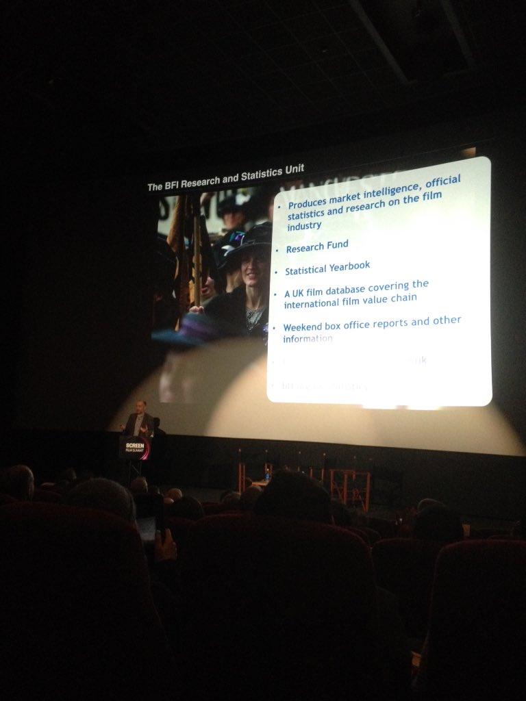 Sean Perkins presents @BFI research and statistics at the Screen Film Summit #SFS15 https://t.co/P8o3tsAx8h