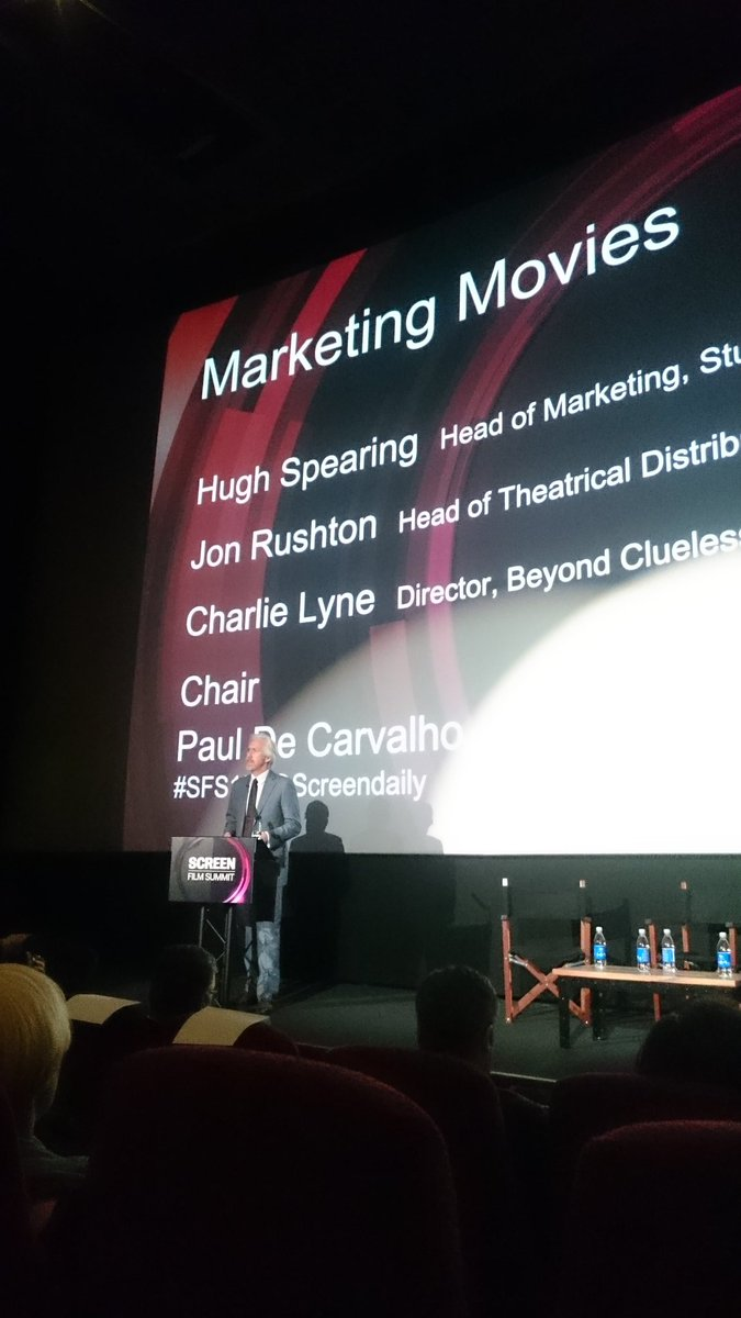 Paul de Carvalho, Head of Sales & Marketing @3MillsStudios introduces panel discussion on marketing movies. #SFS15 https://t.co/XcHaLL5Xhs