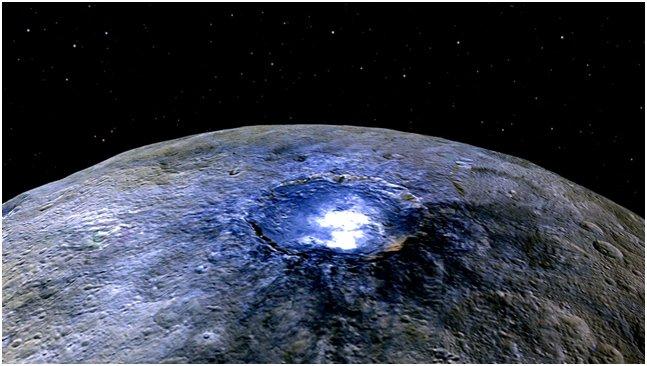 Risolto il mistero delle macchie luminose di Ceres