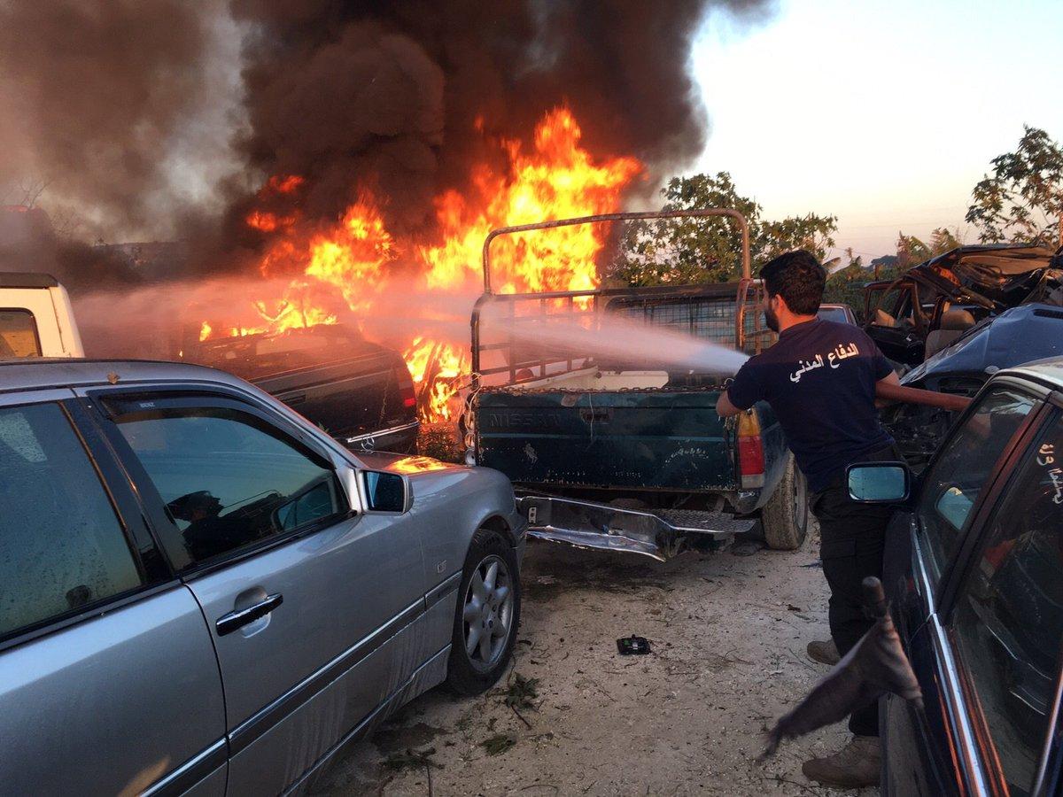 الدفاع المدني اللبناني No Twitter اخماد حريق شب في ثمانية سيارات