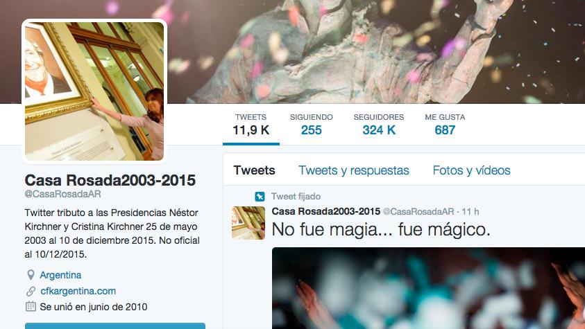 A todo esto, veo que la cuenta de TW @CasaRosadaAR ya no se muestra con el tilde de Verificación de @Twitter https://t.co/dOhwzAsSfO