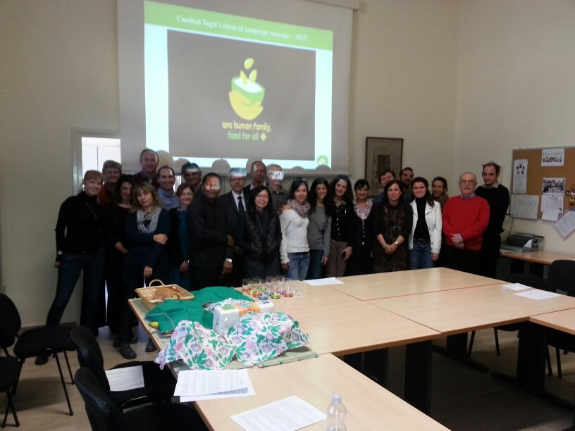 Caritas colleagues celebrating the end of One Human Family, #Food4All campaign in Rome https://t.co/JE2eBa56gz