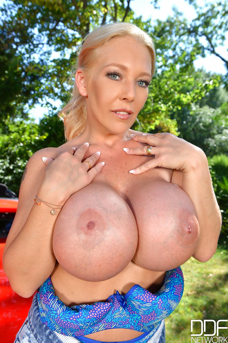 Blonde Milf Fake Tits