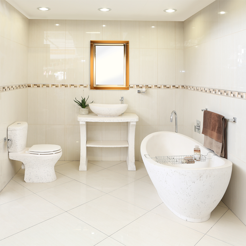 Ctm on twitter simple elegance with the white stone for Ctm bathroom designs