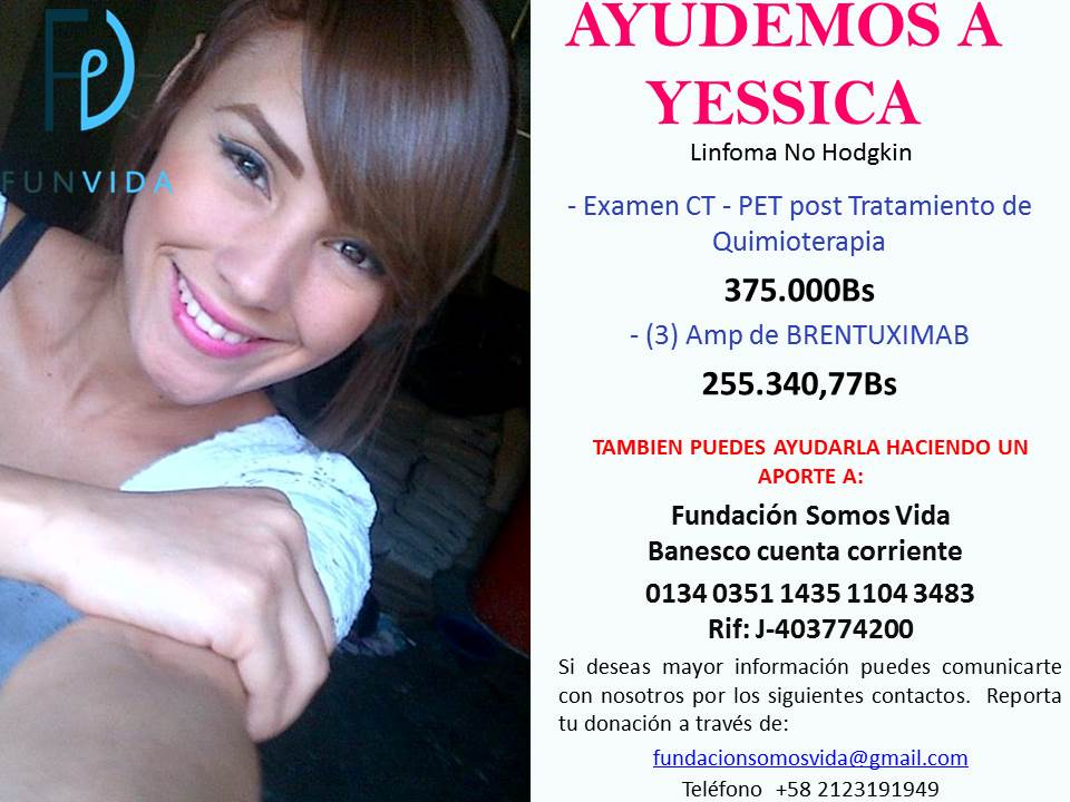 Ayudemos a Yessica @FundacionSVida @ArtistasPorVe @angiepereztv @misses4peace @ValeriaBlancoL @VzlaMia2015 RT https://t.co/wO51ACxiin