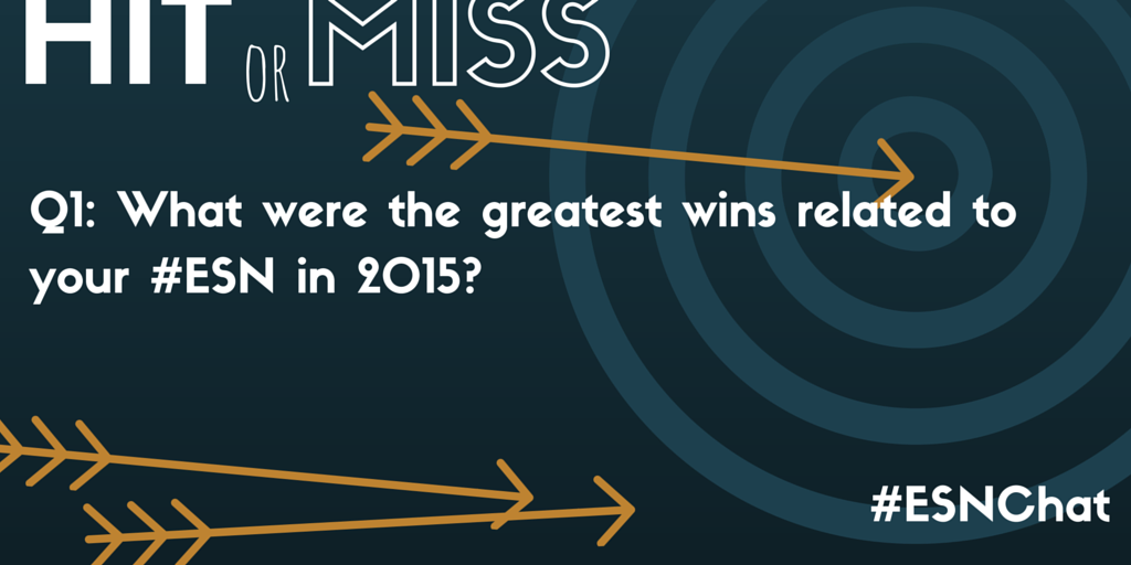 Q1: What were the greatest wins related to your #ESN in 2015? #esnchat https://t.co/5jobxGhBB2