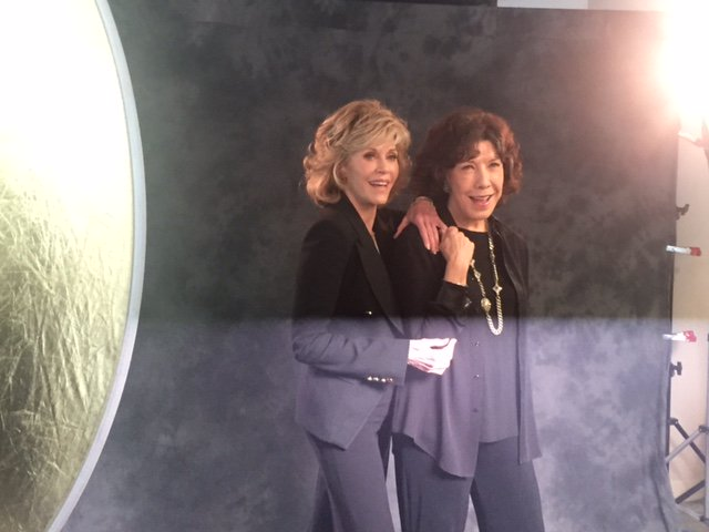 @LilyTomlin ! 2 #GoldenGlobe nominations today!  AND @GraceandFrankie...