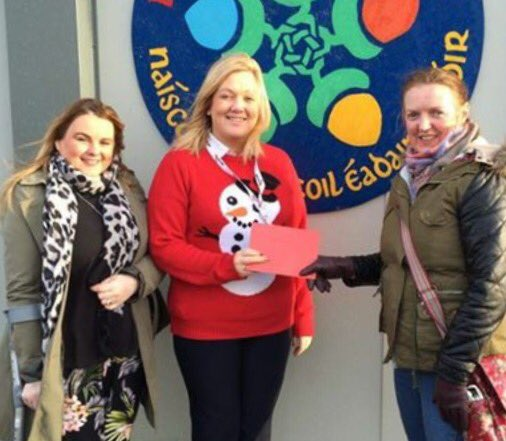 sandra duffy on twitter   u0026quot accompanied unison community branch to present gaelscoil eadain mhoir