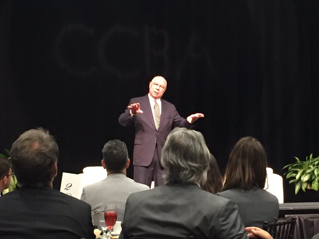 'We shouldn't let what is happening in our country now...diminish how far we have come' General Powell #CCBAleads https://t.co/SI2WRVUh9p
