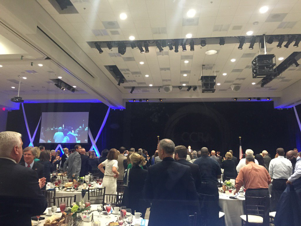 Standing ovation for the General. Thank you, for your leadership. #CCBAleads https://t.co/jMCMoZnI9K
